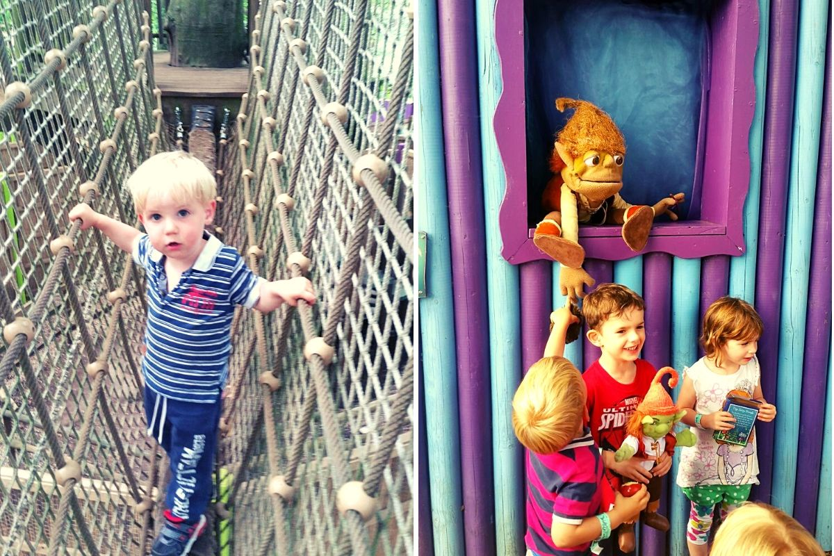 Tackling the high ropes and meeting the characters at BeWILDerwood