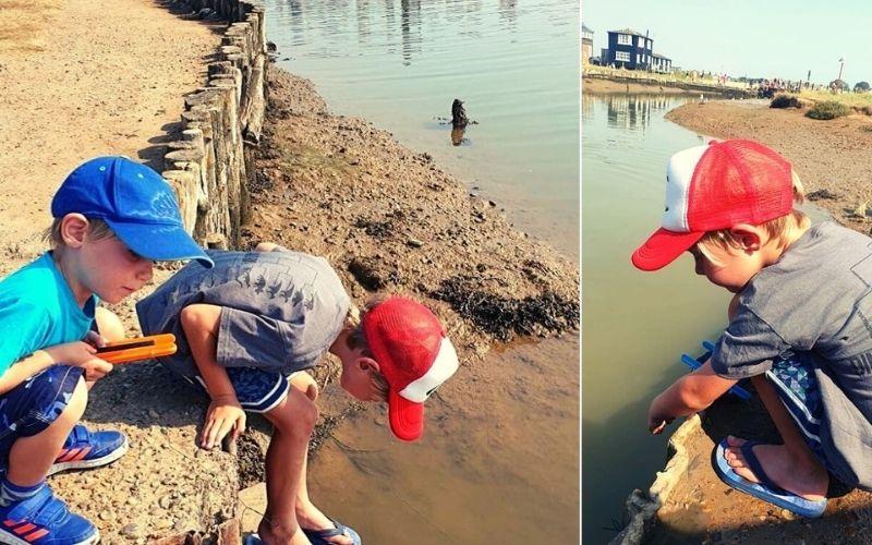 Take the kids crabbing in Walberswick in Suffolk.