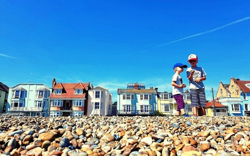 The beachfront in Aldeburgh in Suffolk.