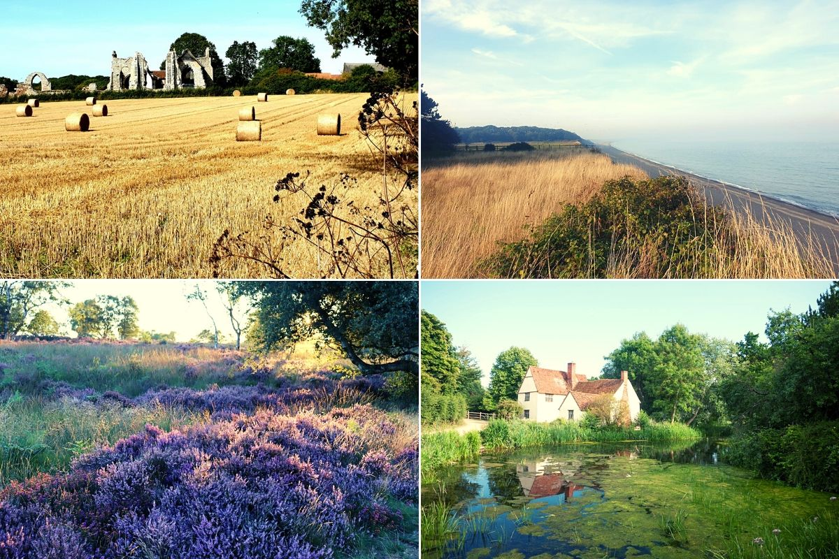 The picturesque Suffolk countryside