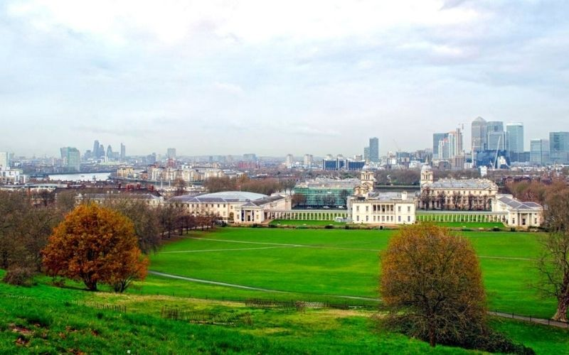 Views of London from Parliament Hill.
