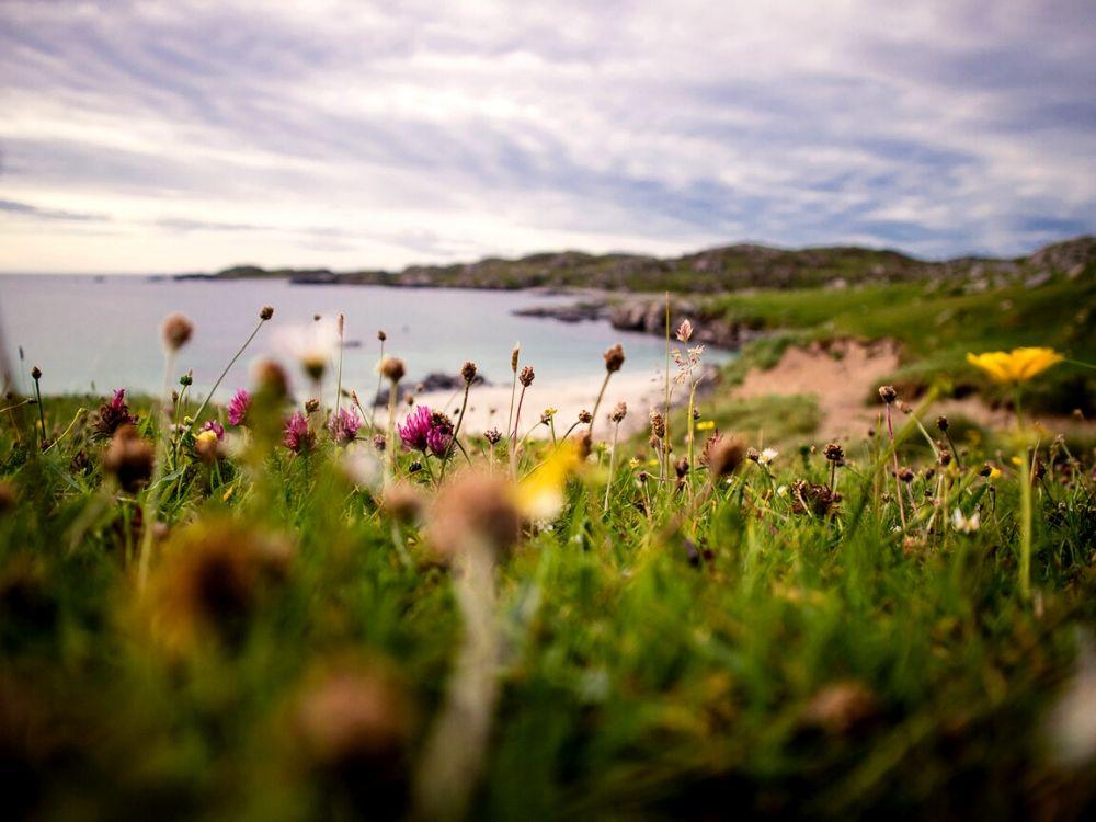 Bosta Beach in the Outer Hebrides in Scotland