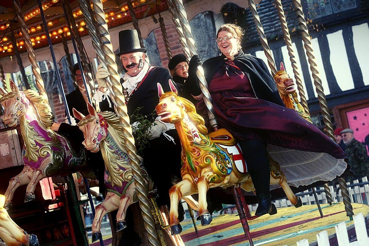 Carousel at Stratford Christmas market