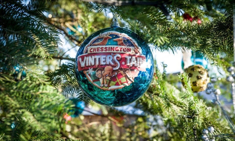 Chessington World of Adventures Winter's Tail bauble