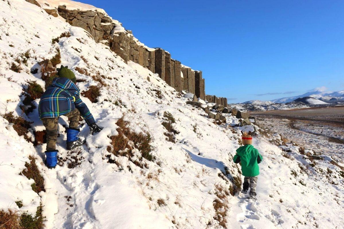 Climbing the Gerduberg Cliffs