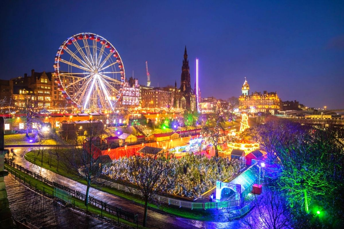 Edinburgh Christmas Market in Edinburgh, one of the best UK Christmas markets
