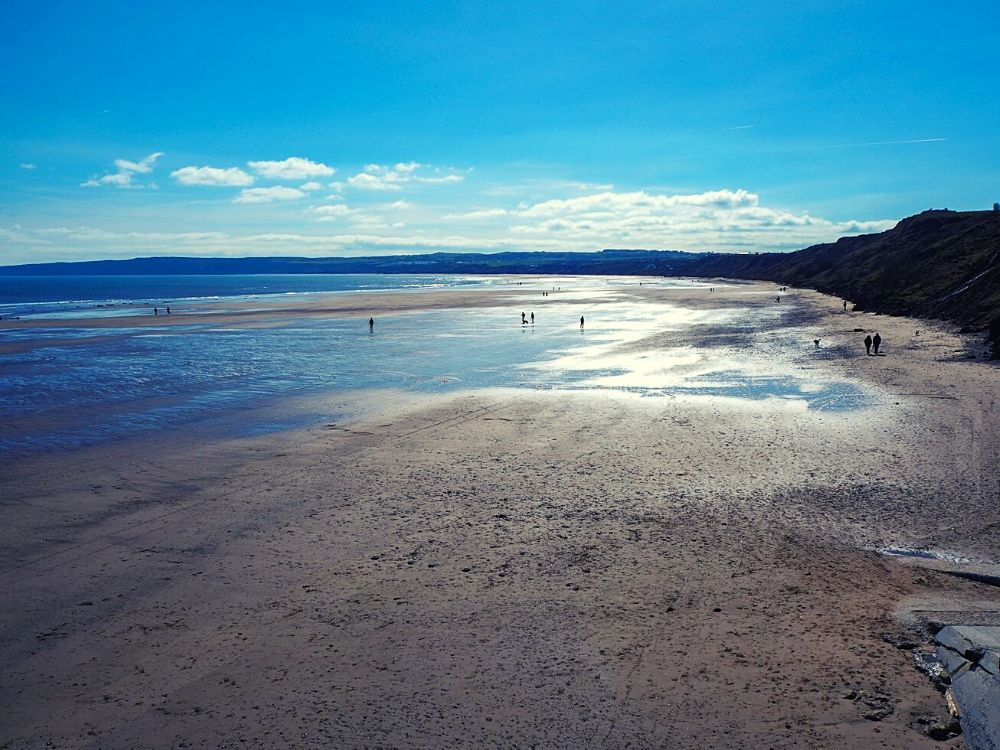 Filey Beach in Yorkshire
