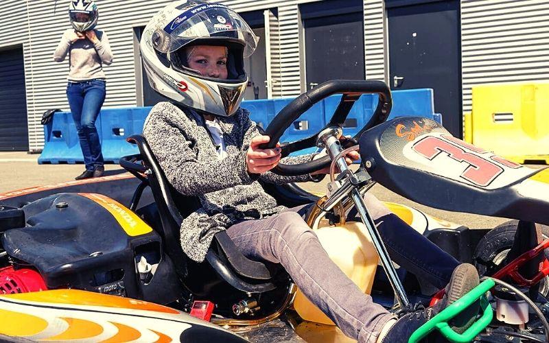 Junior karting in Le Mans