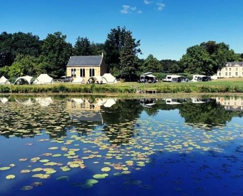 Lakeside camping at Château de Chanteloup