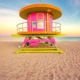 Lifeguard booth on Miami Beach