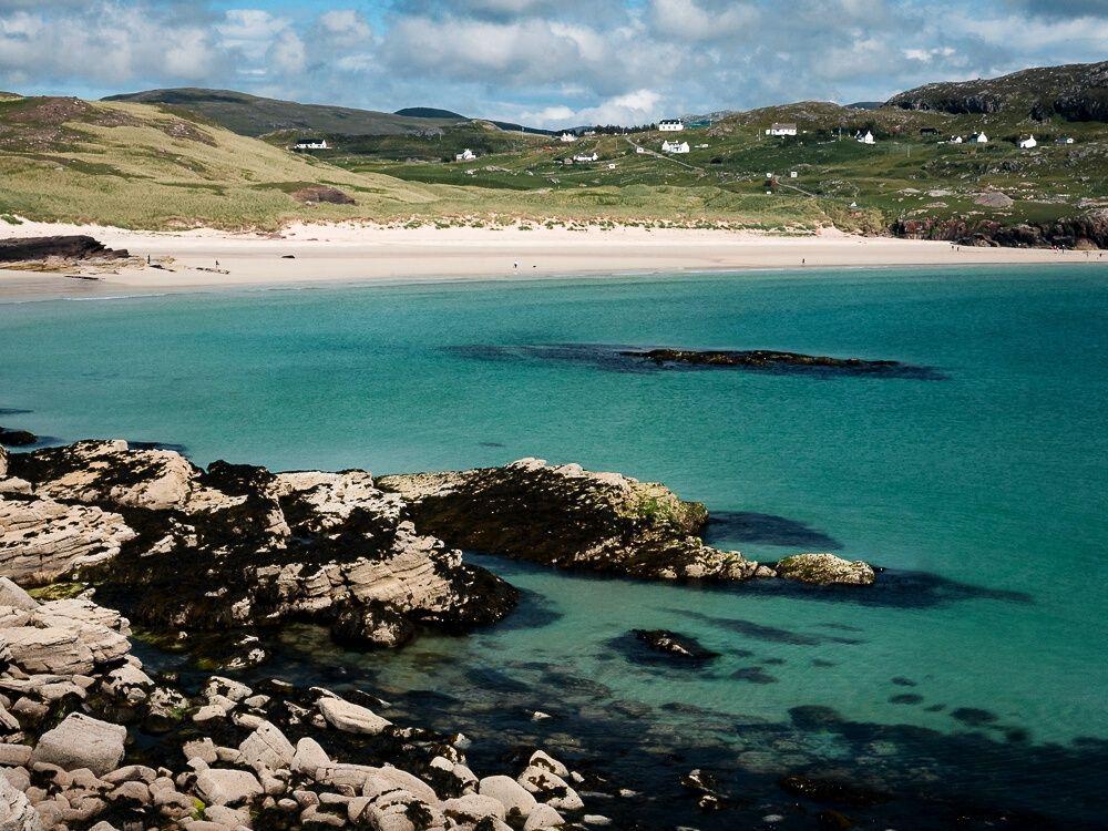 Oldshoremore beach in Northern Scotland