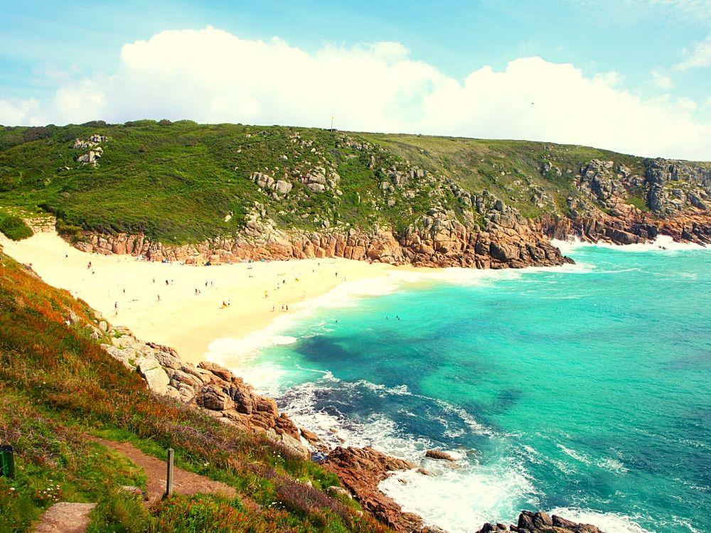 Porthcurno Beach in Cornwall