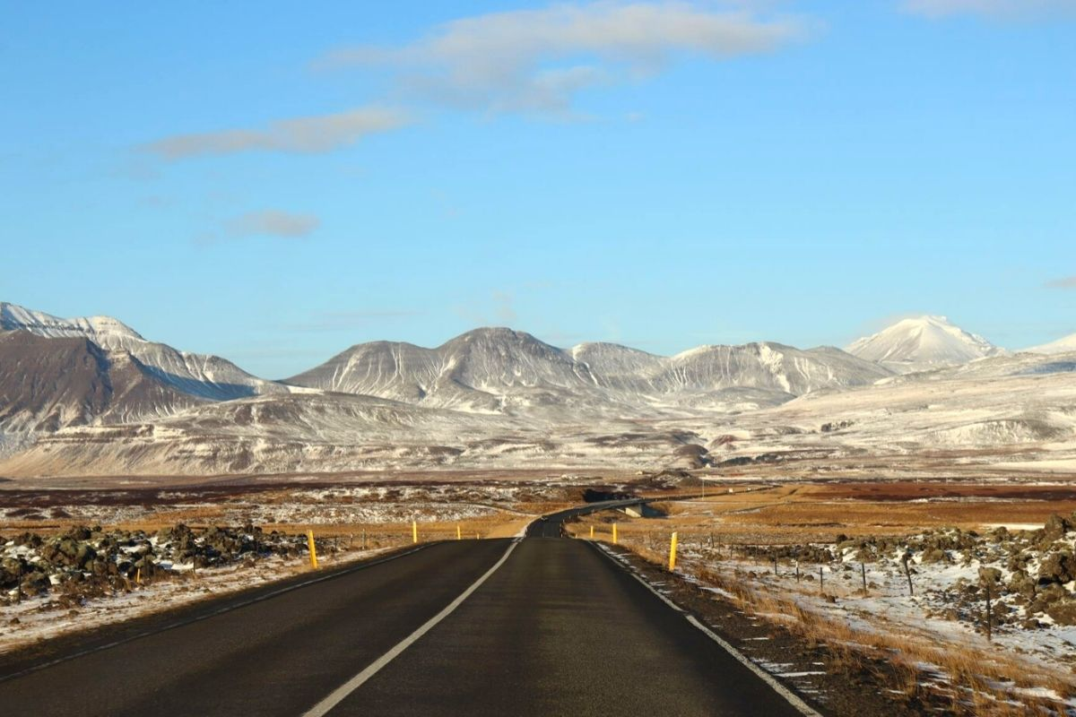 Road conditions in Iceland in October