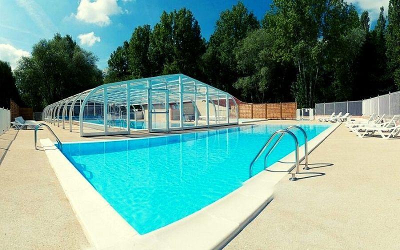 Swimming pools at Camping les Saules