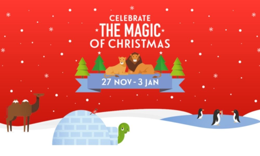 London Zoo offers one of the places to see Santa in London this year.