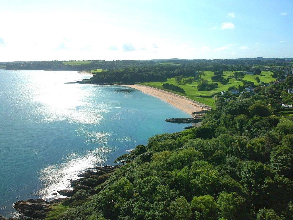 View of Helen's Bay Beach in Northern Ireland