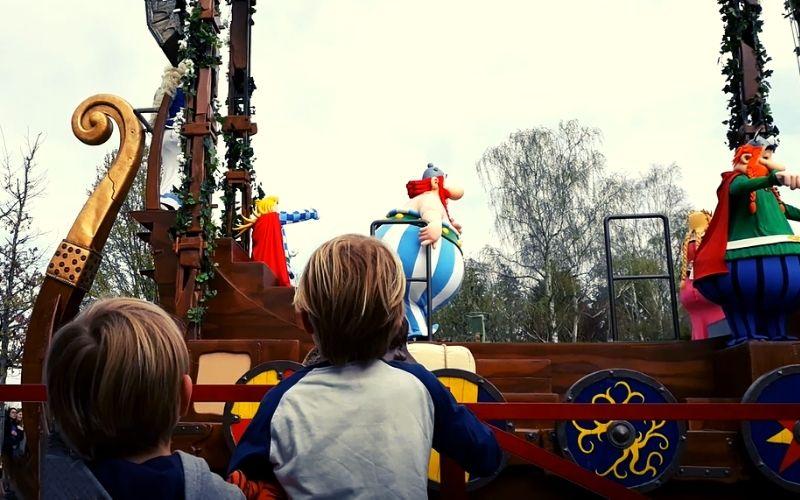 Watching the parade at Parc Astérix