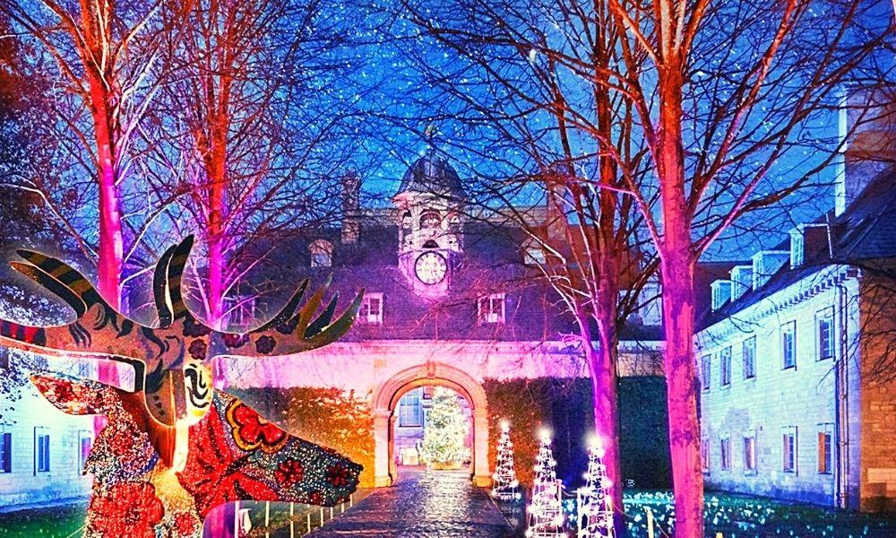 Belton House Christmas light trails