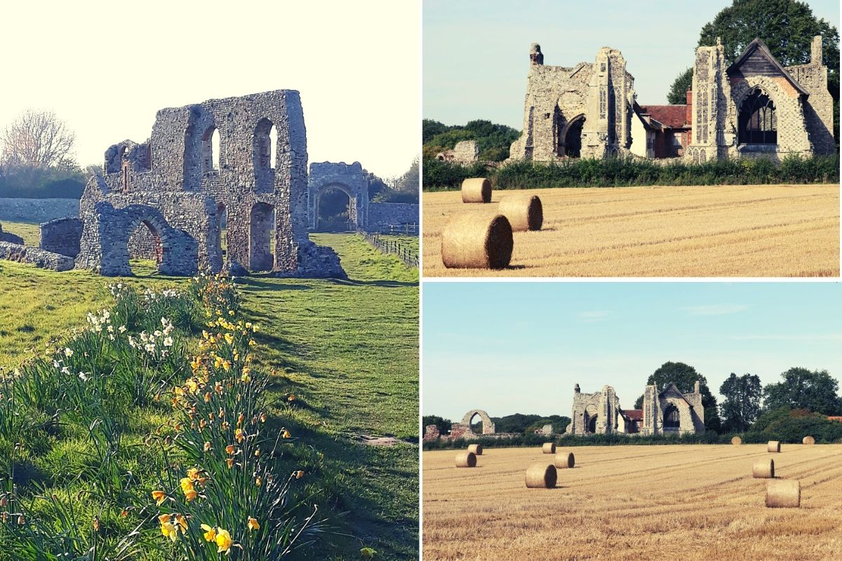 Dunwich Abbey and Leiston Abbey ruins