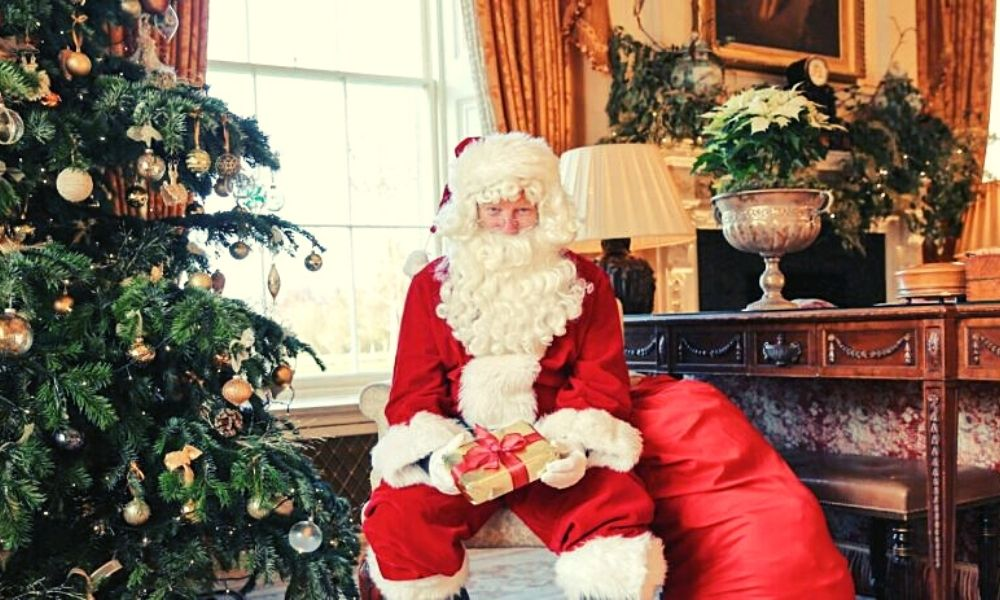 Father Christmas at Lucknam Park at Christmas