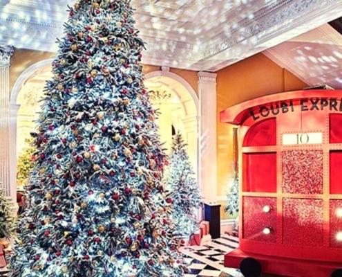 Festive decorations at Claridge's