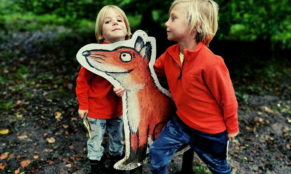 Finding the Gruffalo characters in Wendover Woods