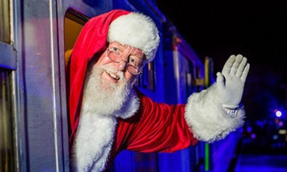Santa on the South Devon Railway Polar Express