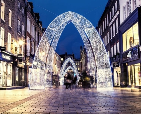 South Molton Street London Christmas lights