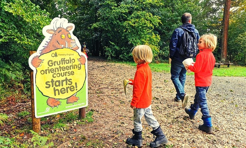 Start of the Wendover Woods Gruffalo Trail