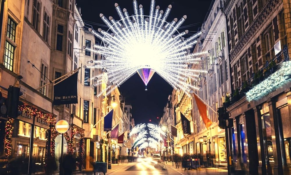 The Bond Street Christmas lights