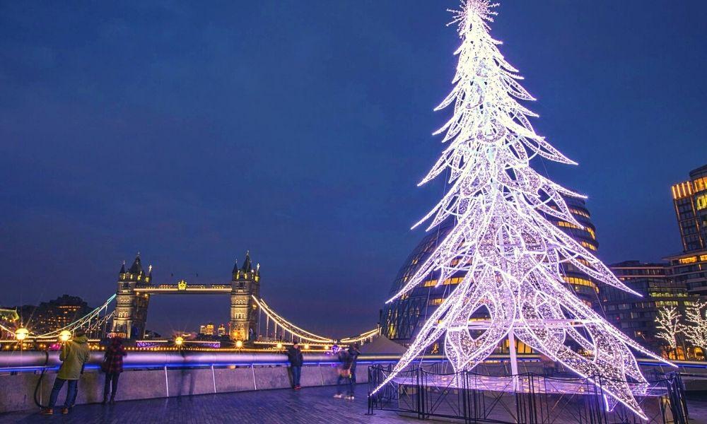 Tower Bridge Christmas lights