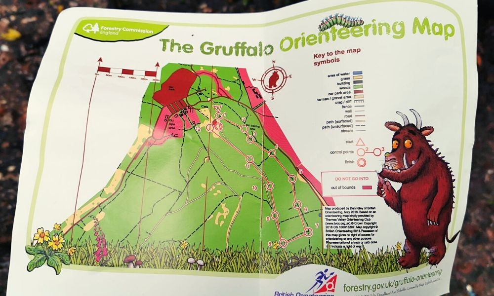 Wendover Woods Gruffalo Orienteering Map