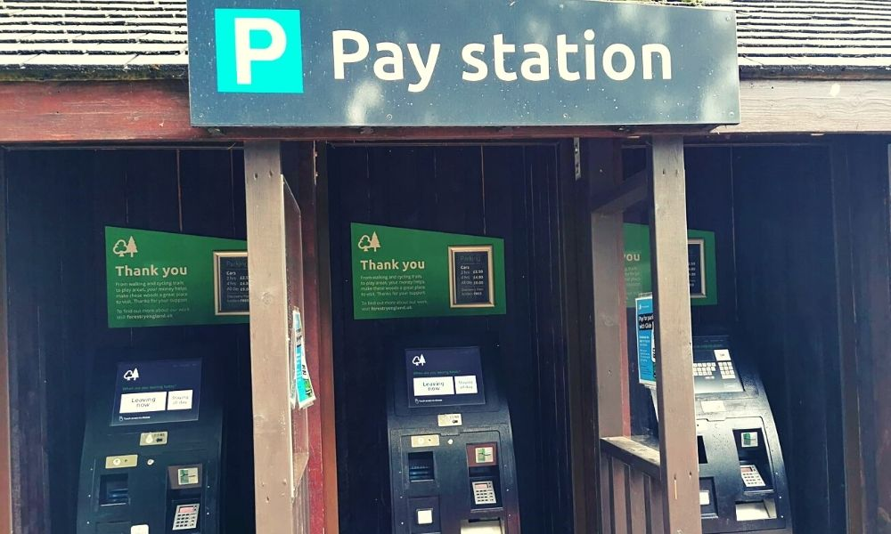 Wendover Woods parking pay station