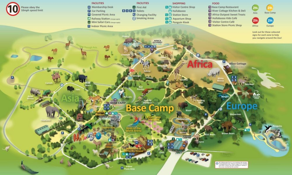 Whipsnade Zoo map