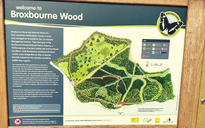 Broxbourne Woods Sculpture Trail Map