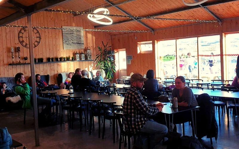 Café area at the Secret Lagoon Iceland