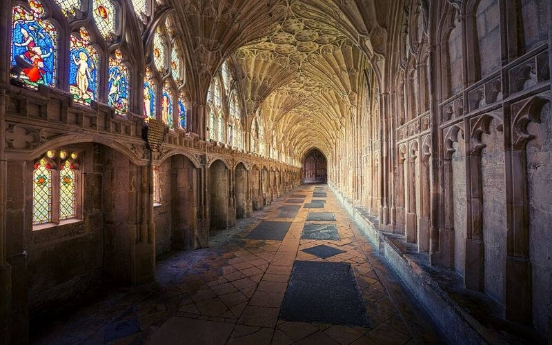 Gloucester Cathedral Cloisters Photo Credit Michael D Beckwith