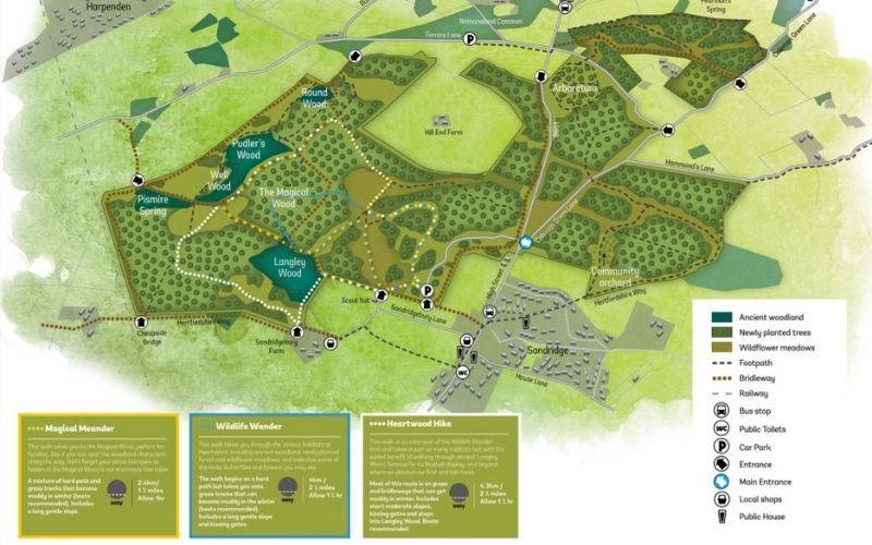 Heartwood Forest walking trails