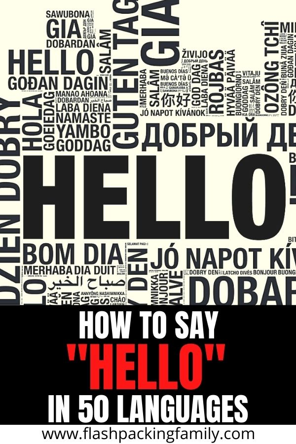 How to Say Hello in 50 Languages