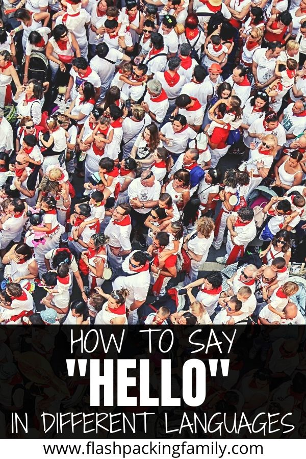 How to say hello in diffferent languages