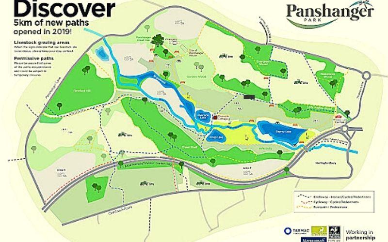 Map of Panshanger Park