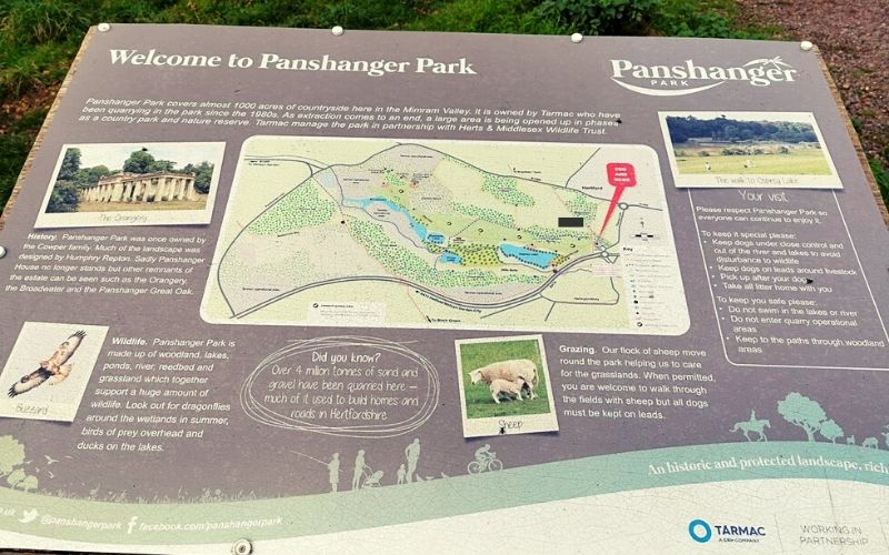 Panshanger Park map