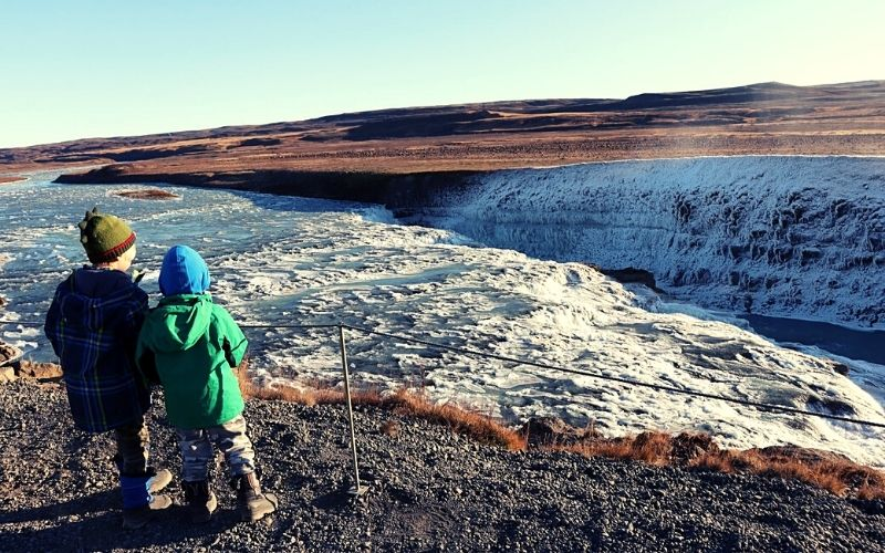 Path to the second viewpoint at Gullfoss