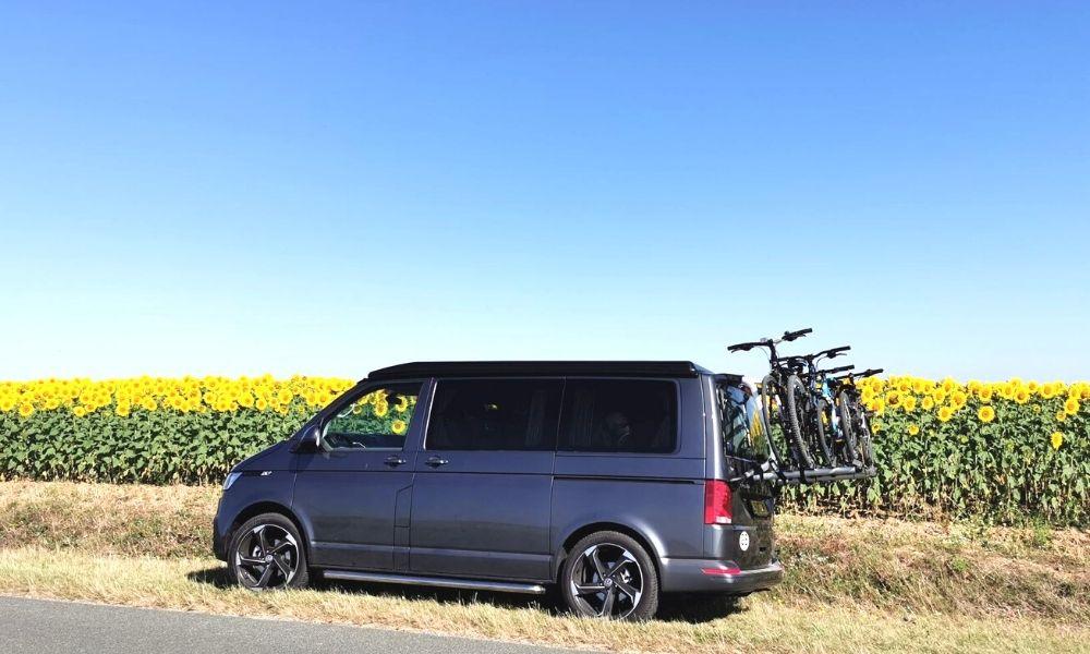 Bikes on our campervan