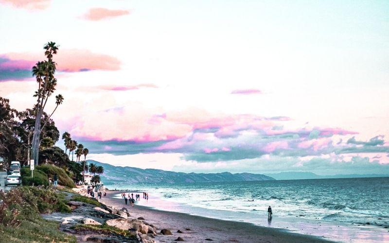 Butterfly Beach at sunset