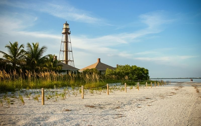 Lighthouse Beach on Sanibel Island
