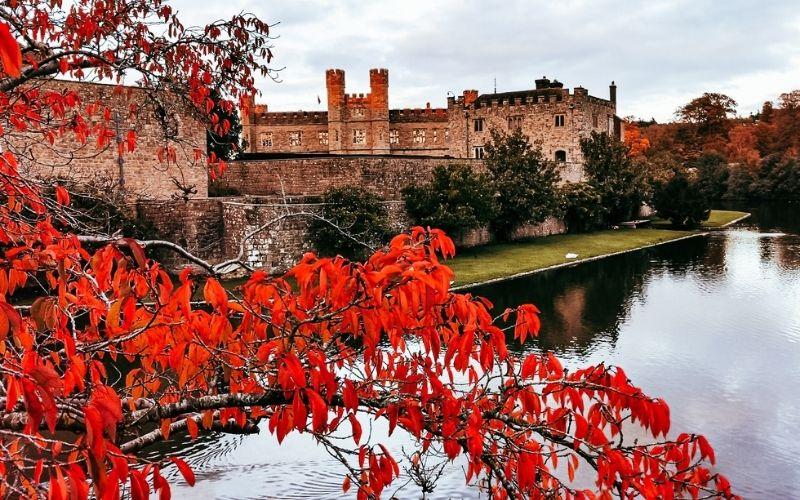 Leeds Castle in the autumn