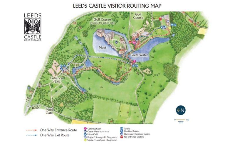 Leeds Castle visitor map