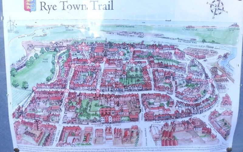 Map of things to do in Rye