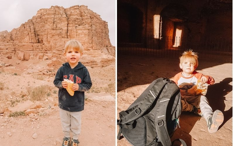 Snacks, snacks and more snacks hiking in Jordan